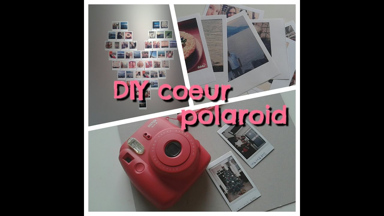 Exceptionnel D.I.Y Coeur photo Polaroid - YouTube ES75