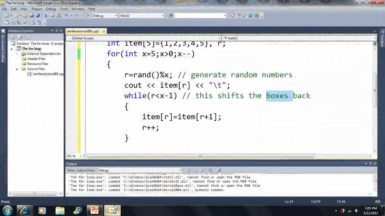 how to make an array with random numbers c