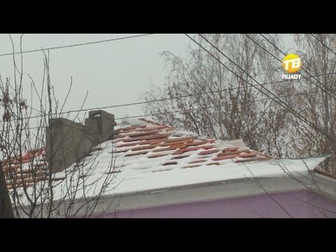 Снег на голову. Дом в Твери в холод остался без крыши. 2016-10-27
