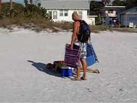 Drunk Girl At Indian Rocks Beach In Florida