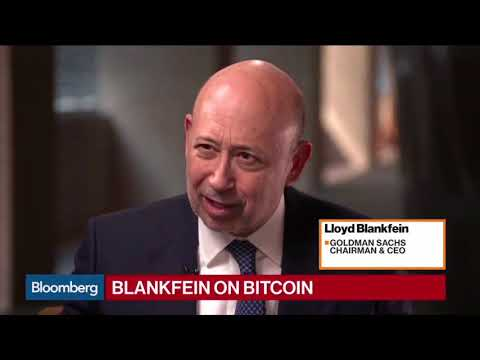 BITCOIN's Future! Bloomberg Interview with Goldman Sachs CEO