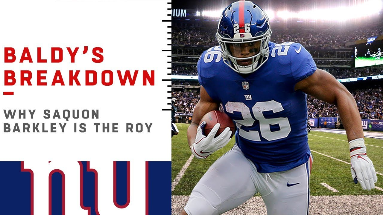 promo code c569d 687d6 Why Saquon Barkley is Rookie of the Year | NFL Film Review