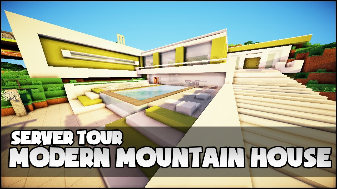 Modern Mountain House Minecraft Modern Mountain House Youtube