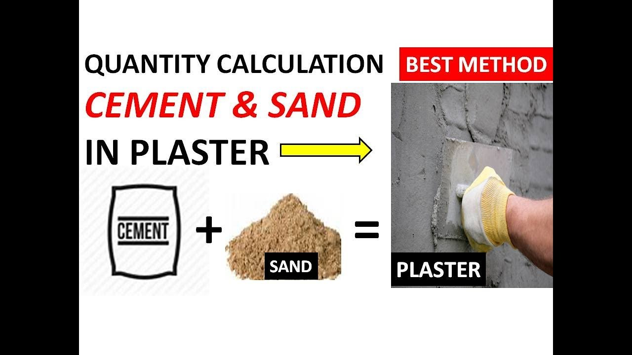 how to calculate quantity of cement and sand in PLASTER | CONCRETE & MORTAR  | NO  OF BRICKS
