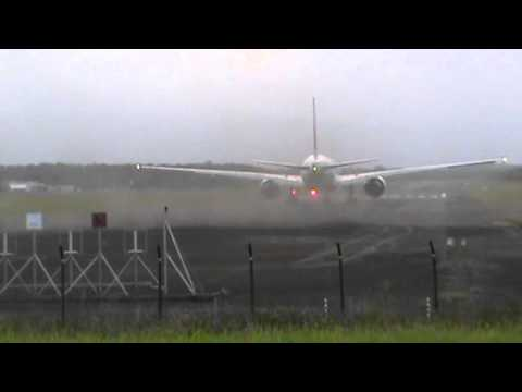 Amazing Boeing 777-300ER Air france take off runway 30 in Guadeloupe