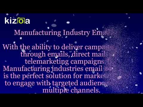 Manufacturing Industry List