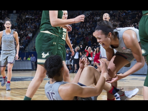 UConn Women's Basketball Highlights vs. USF 01/10/2017