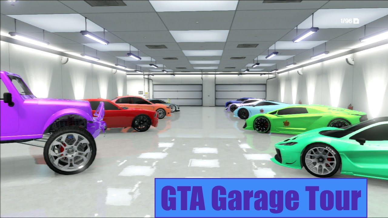 GTA Garage Tour Modded Car Modded Plates Lot More Ps - Show car garage