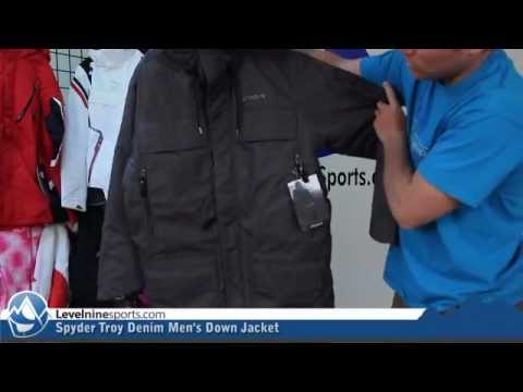 Spyder Troy Denim Men s Down Jacket - YouTube 598d85c68