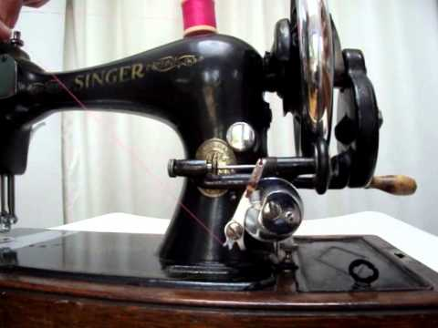 How To Wind A Singer Sewing Machine Long Bobbin And Load The Shuttle Classy How To Use A Old Sewing Machine