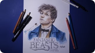 Video Fanastic Beasts: Newt Scamander Speed Drawing download MP3, 3GP, MP4, WEBM, AVI, FLV Desember 2017
