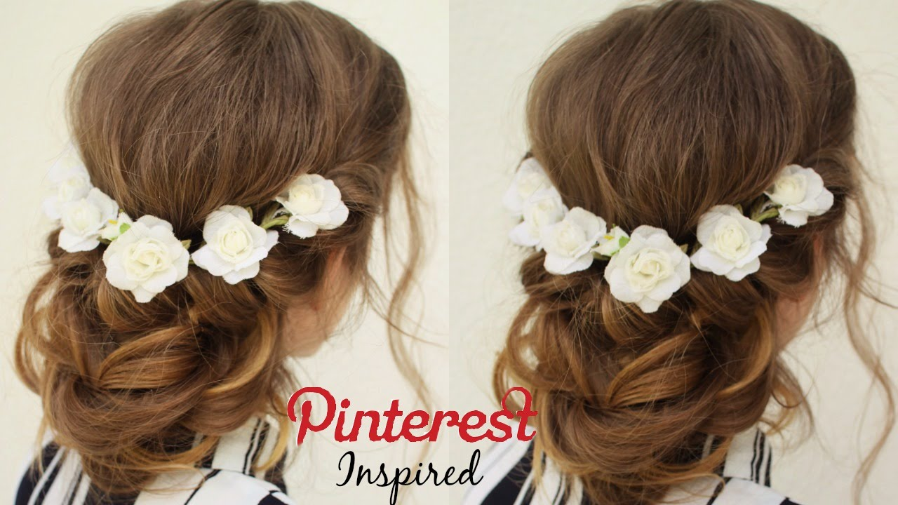 Easy Pinterest Inspired Hairstyle Updo Homecoming Hairstyle