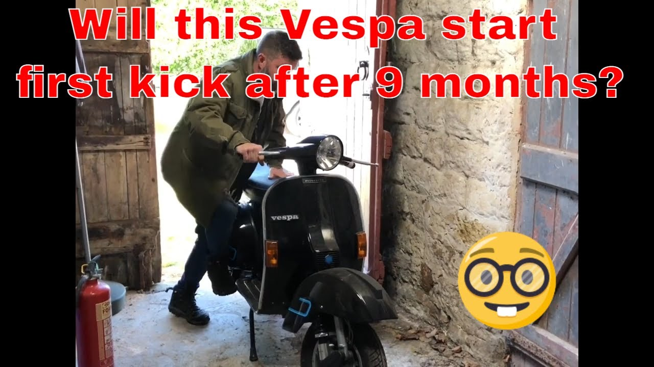 Will this Vespa fire up first kick after being stood in the garage for 9 months?