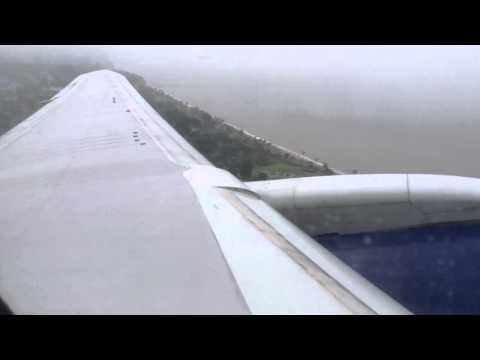 British Airways rainy takeoff from Freetown Lungi International Airport (FNA)