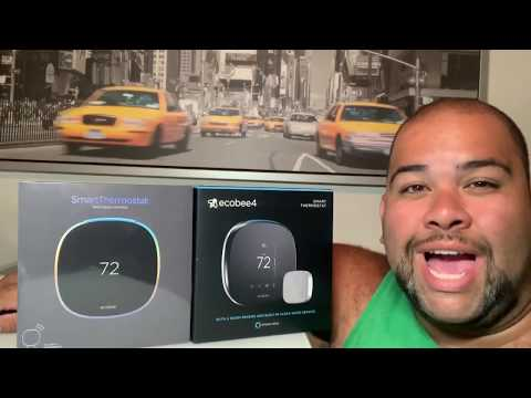 New Ecobee smart thermostat vs ecobee 4 side by side comparison review