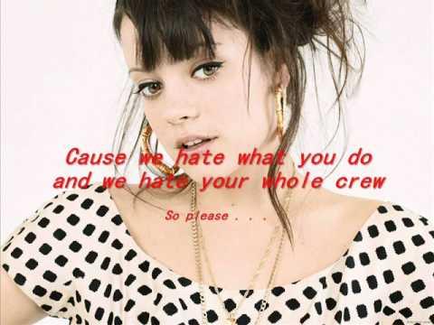Lily allen fuck you song lyrics