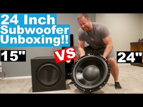 Stereo Integrity HS-24 mkIII Unboxing!! 24 Inch Home Theater Subwoofer