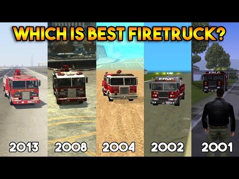 GTA : FIRETRUCK IN ALL GTA (GTA 5, 4, SAN, VC, 3, 2, 1)