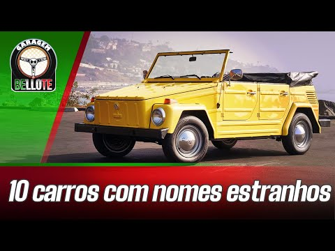 10 CARROS COM NOMES ESTRANHOS | GARAGEM LISTAS #11