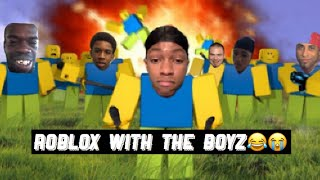 Playing ROBLOX with the boyz!