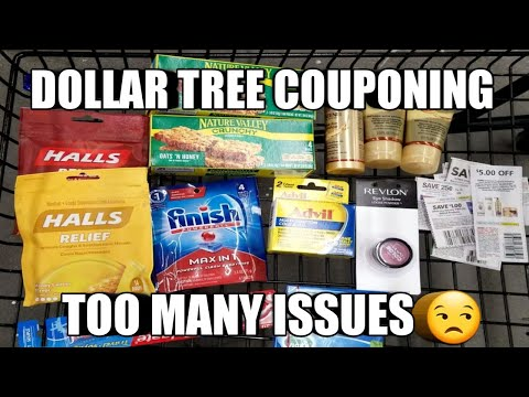 DOLLAR TREE COUPONING| TOO MANY ISSUES