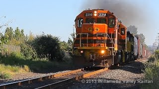 Portland & Western 2314 leads train 664 - UP Brooklyn Sub  Salem, Oregon 6.8.13