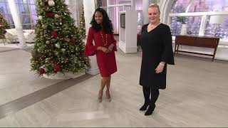 Belle by Kim Gravel V-Neck Dress with Bell Sleeves on QVC