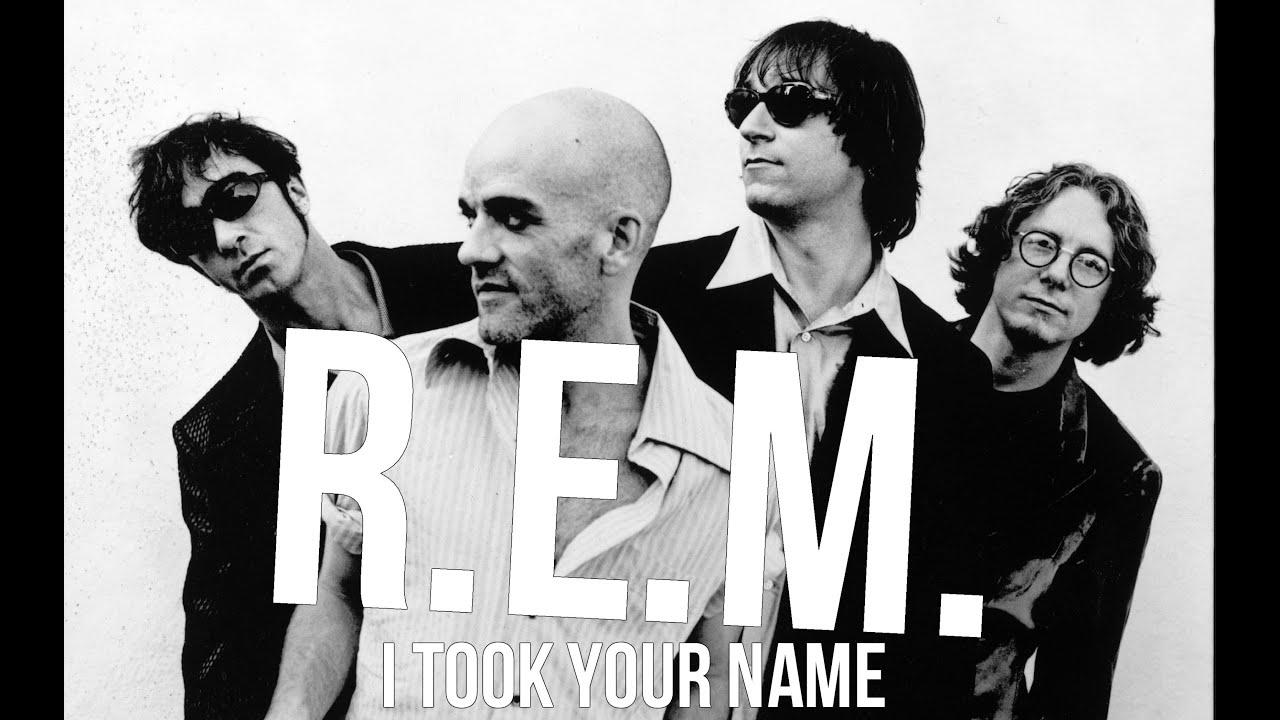 R.E.M. I Took Your Name Lyric Video - YouTube