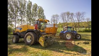 Ensilage d'herbe 2020 | New Holland FR9050 | 3x New Holland T7, New Holland TM150, Case IH MX135