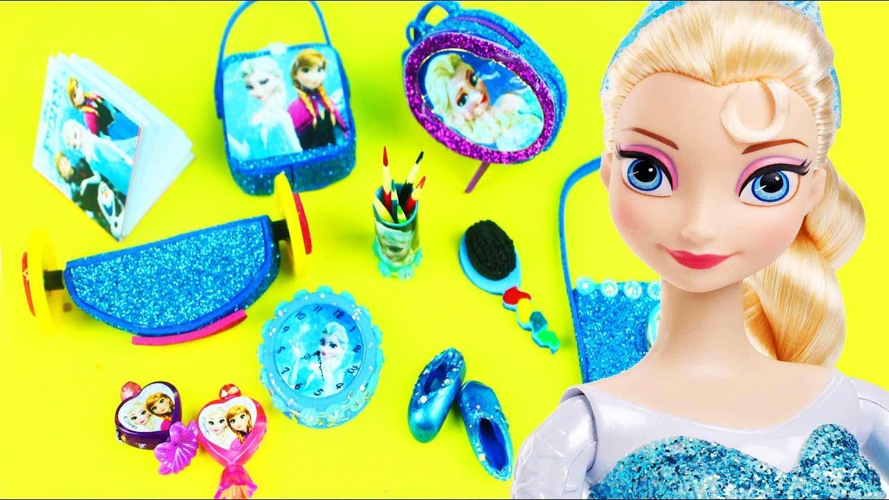 5 dakikada prenses elsa icin minyatur esyalar nasil yapilir