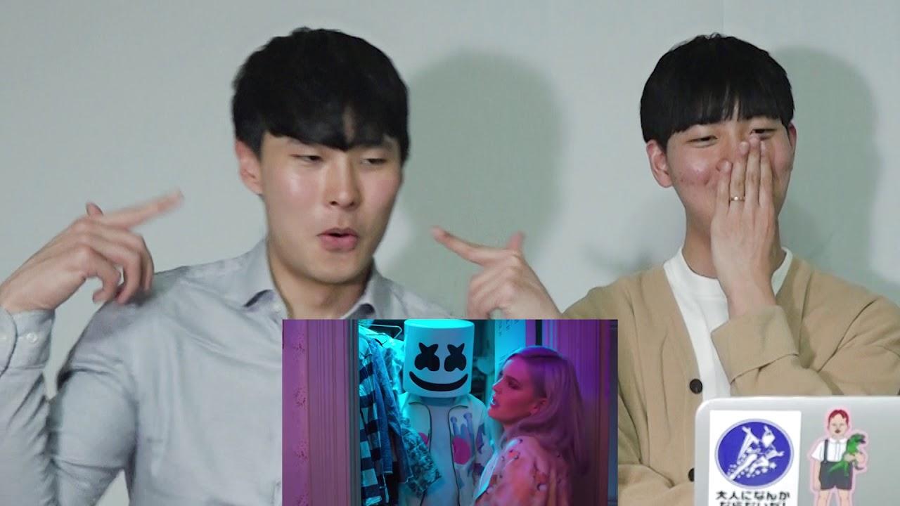 KOREAN BOYS Reaction To MARSHMELLO & MARIE - FRIENDS!!! #1