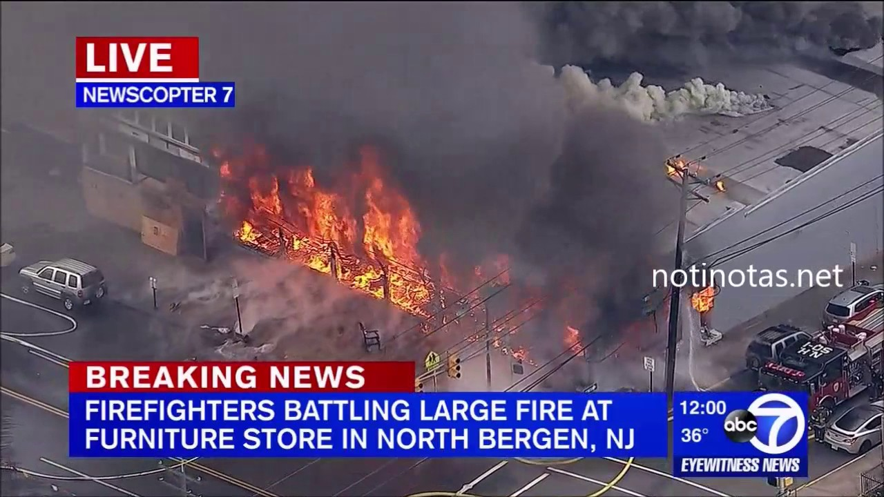 Video: Union City, NJ Furniture Store Fire - Firefighter Nation
