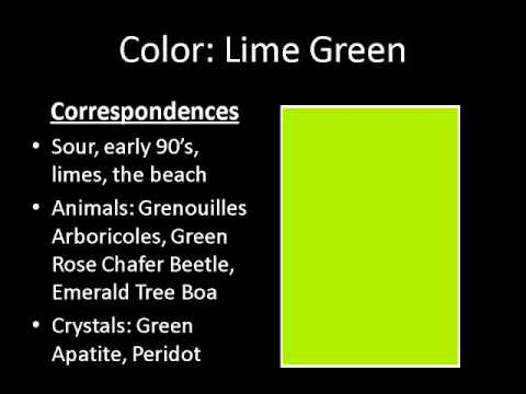color series lime green youtube