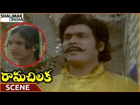 Rama Chilaka Movie    Rao Gopal Rao Impress On Seeing Village Girl    Vanisri    Shalimarcinema