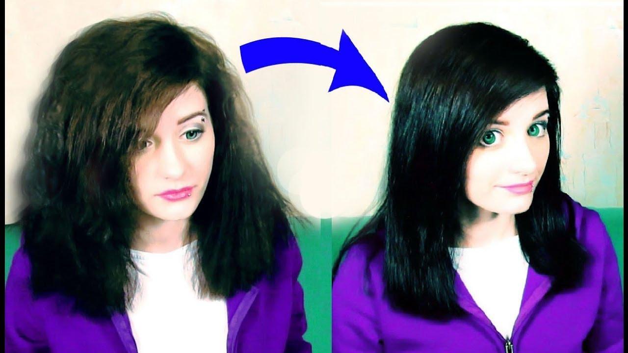 Как без фена выпрямить волосы