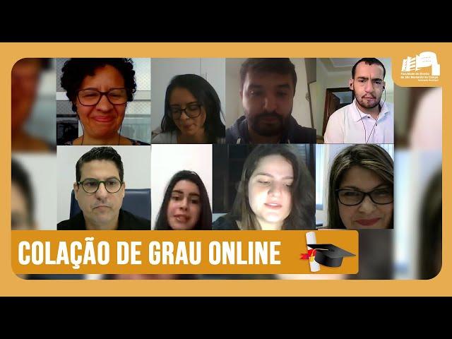 Colação de Grau Online da FDSBC