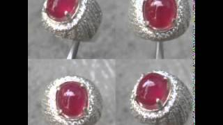 Koleksi Batu Permata Ruby Cincin Perak