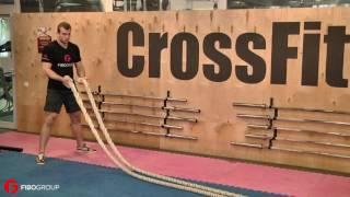 Базовые упражнения с канатом