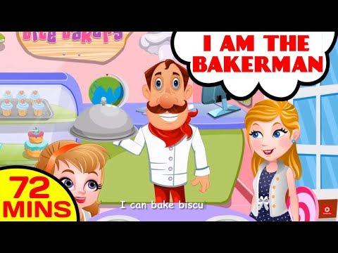 I am The Baker Man - Pat A Cake Song & Food Songs by Baby Hazel Nursery Rhymes