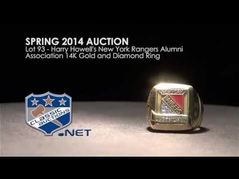 Harry Howell's New York Rangers Alumni Association 14K Gold and Diamond Ring