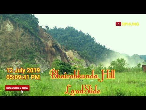 Bhutan Bhairabkunda  Hill LandSlide || 12 July 2019 || 05:09:41 Pm