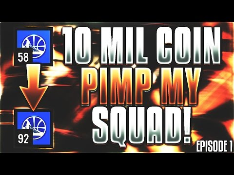 10 MIL COIN PIMP MY SQUAD!! GOING FROM 58 TO 92 OVR!! GET YOUR SQUAD PIMPED!! | NBA Live Mobile