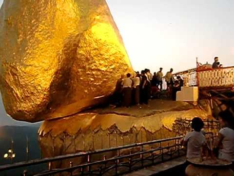 Kyaiktiyo Pagoda or Golden Rock: 黄昏時のチャイティーヨー・パゴダ(2010.3.22)