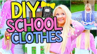 DIY Easy Tumblr Clothes for Back to School + HUGE School Clothing Haul!