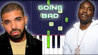 Meek Mill - Going Bad feat. Drake Piano Tutorial EASY (Piano Cover)