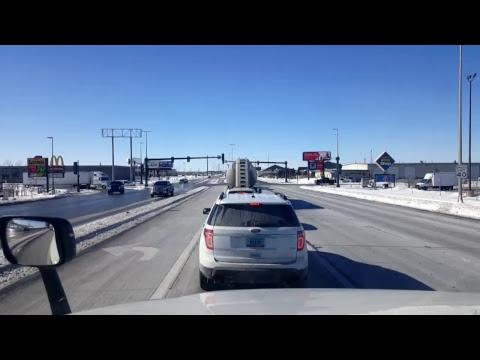 BigRigTravels LIVE! Dickinson to Fargo, North Dakota Interstate 94 East-Feb. 21, 2018