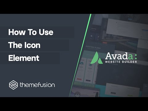 How To Use The Icon Element Video