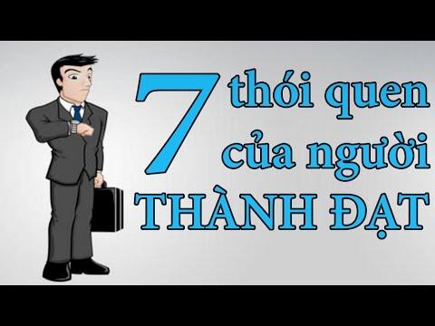 7 thói quen của người thành đạt...