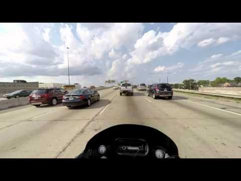 Harley-Davidson ride on I-70, approaching Indianapolis, OH