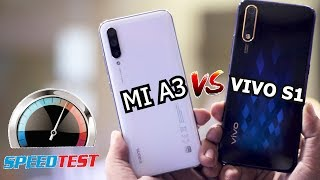 VIVO S1 VS XIAOMI MI A3 SPEED TEST | BENCHMARKS,FINGER PRINT SENSOR,PUBG GRAPHICS,RAM MANAGMENT